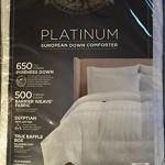 Pacific Coast Platinum European Down Comforter – Year Round Comfort (King)