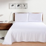 Lullabi Linen 100% Brushed Soft Microfiber Bed Sheet Set, Fitted & Flat Sheet & Pillowcases, Cozy Comfortable, Wrinkle, Fade, Stain Resistant, Deep Pockets (White, Queen)