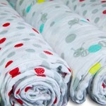Baby Swaddle Blankets | Organic Muslin Cotton Receiving Blanket Gift Set | Caterpillar & Dots, 4 Count