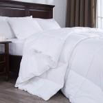 Puredown White Down Alternative Comforter Duvet Insert, Peach Skin Fabric, Twin Size