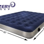 Lazery Sleep Camping Series Air Mattress Included Rechargeable Air Pump & Car Charger, Queen