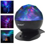 SOAIY Color Changing Led Night Light Lamp, Aurora Star Borealis Projector for Children and Adults, Decorative Light, Mood Light, Baby Nursery Night Light, Kids Bedroom Living Room Night Light(Black)