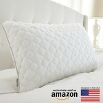 Shredded Memory Foam Cluster Comfort Pillow – Premium Removable Knit Cover featuring Free Moving Shredded Memory Foam Clusters