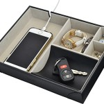 Surpahs Handmade Leatherette Valet Tray – 5 Compartments