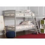 Dream On Me Taylor 2-in-1 Twin Over Bunk Bed, Gray, 99 Pound