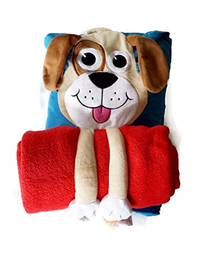 Cuddle Huggers Puppy Travel Pillow And Blanket