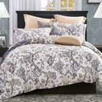 Word of Dream 200TC 100% Cotton Floral Print Duvet Cover Sets 3 PC, Blossom Pattern, King