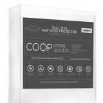 Ultra Luxe Bamboo derived Viscose Rayon Mattress Pad Protector Cover by Coop Home Goods – Cooling Waterproof Hypoallergenic Topper – Full – White