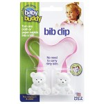 Baby Buddy Baby Bib Clip, Turns any Cloth, Towel, or Paper Napkin into Instant Disposable Bibs-Good for Home, Travel, Restaurant-For Infants, Toddlers, Child-Boys or Girls Pink 2 Pack