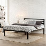 Zinus Modern Studio Platform 1500H Metal Bed Frame/Mattress Foundation with Headboard, Twin
