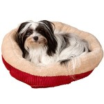 Evelots Soft Self Heating Pet Bed, Cats & Dogs, Soft & Cozy, 20″D by 7″H, Red