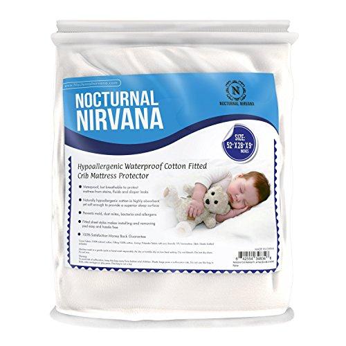 Nocturnal Nirvana Baby Crib Mattress Protector Pad 100