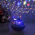 [Newest Generation] LED Night Lighting Lamp -Elecstars® Light Up Your Bedroom With This Moon, Star,Sky Romantic LED Nightlight Projector, – Best Gift for Men Women Teens Kids Children Sleeping Aid