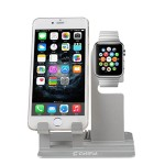 Apple Watch Stand,Cellpal Premium Aluminum Charging Dock Station Cradle Holder for Apple Watch&iphone — Support Your Apple Watch Night Stand Mode and Iphone Ipad with Different perspectives (Silver)