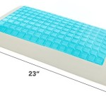 Milliard Premium Cooling Gel Panel Memory Foam Pillow, Perfect for Neck Support and Keeping your Face Cool for a Most Enjoyable Sleep – 23x15x5in.