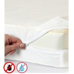 Zippered Vinyl Mattress Cover Protector QUEEN Size, Protects against (Fluids, Dust Mites, Bacteria, Bed Bugs)