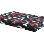 PUPTECK Fleece Pet Dog Beds Blanket Personalized Puppy Cat Blankets and Throws for Car Crate Couch Cover,Black Medium