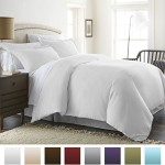 Beckham Hotel Collection® Luxury Soft Brushed 1800 Series Microfiber 3 Piece Duvet Cover Set – Full/Queen, White