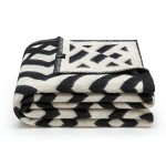 Merino Wool Blanket 100 black white. Throw blanket for home and camping. Plaid nice for babies children. Twin size 140×200 warm and washable wool blanket. Full size bed sofa. Woolkrafts Kross