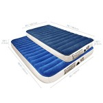 SoundAsleep Camping Series Air Mattress – Twin Size with Included Rechargable Air Pump (Twin)