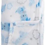 Nuby Cuddly Soft Plush Baby Blanket, Blue, 30″ x 30″