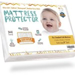 Premium Waterproof Crib Mattress Protector Pad Sheet Cover (Ultra-Soft Bamboo Rayon Terry Fabric), Fitted Style for Baby Boy/Girl or Toddler