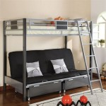 Contemporary Style Twin / Futon Bunk Bed with Twin Trundle