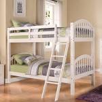 Kings Brand Furniture Twin over Twin Wood Bunk Bed with Ladder (White)