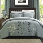 Chic Home 3-Piece Kaylee Floral Embroidered Duvet Set, Queen Green