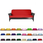 Magshion@Futon Cover Slipcover (Red, Queen (60×80 in.))