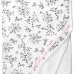 Little Me Baby Girls' Bird Toile Blanket, White Print, One Size