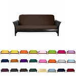 Magshion@Futon Cover Slipcover (Coffee, Full (54×75 in.))