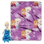 Disney Frozen 'Elsa' Pillow Pal Character Plush and Soft Fleece Blanket Throw, 2 Pc Set