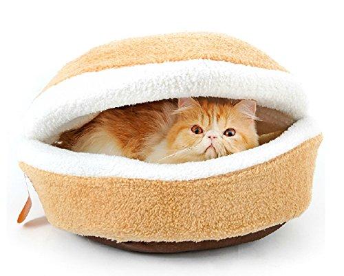 Kisspet 174 Hamburger Design Washable Pet Bed Soft Dog House