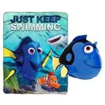 Disney / Pixar Finding Dory Kids 2 Piece Cuddle Set – Plush Throw Blanket and Dory Pillow Buddy