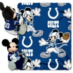 NFL Indianapolis Colts Mickey Mouse Pillow with Fleece Throw Blanket Set