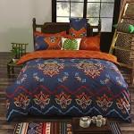 Vaulia Lightweight Microfiber Duvet Cover Set, Bohemia Exotic Patterns, Reversible Color Design, King Size