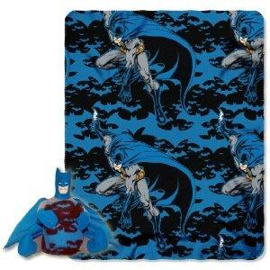 Blue Batman Throw Blanket and Pillow Set