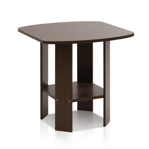 Furinno 11180DBR Simple Design End/Side Table, Dark Brown