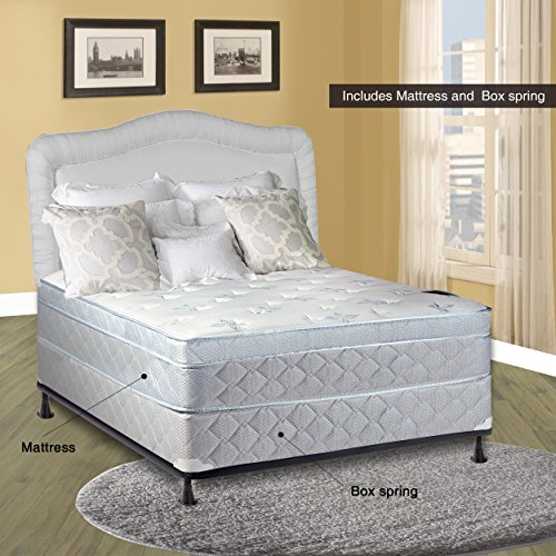 Spinal Solution Mattress, 10″ Pillowtop Eurotop , Fully Assembled Othopedic Queen Mattress and Box Spring,Luxury Collection