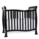 Dream On Me Violet 4 in 1 Convertible Mini Crib, Black