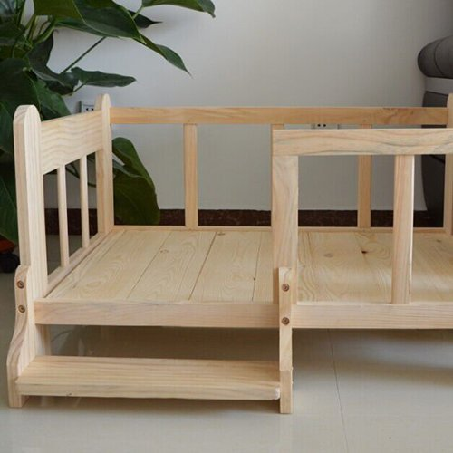 Luxury Wooden Dog Beds, Detatchable Wooden Pet Beds by Duke Austin. Light Assembly Required.