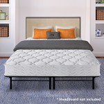 Best Price Mattress 8″ Pocket Coil Spring Mattress & 14″ Dual-Use Steel Bed Frame/Foundation Set, Queen