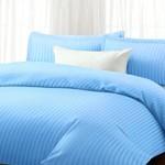 Home Collection Classic Sateen Stripe 1600 Series 4 Piece Sateen Stripe Sheet Set. (4 Sizes, 9 Colors) (Queen, Light Blue)