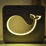 Nightlights for children Whale. Lamps for bedrooms. Bedroom baby night light. Modern beside lighting. Nursery light gift (Pine)