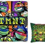 Teenage Mutant Ninja Turtles TMNT Snuggle Pillow and Plush Blanket Set – Kids