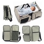 3 in 1 Travel Bassinet Diaper Bags & Portable Crib Infant Bed Changing Station Nursery Travel Bed by WXDZ