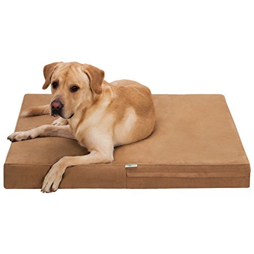 Ollieroo Premium Orthopedic Ultimate Dog Bed Lounge Premium Edition with Solid Memory Foam Pet Mattress Deluxe Dog or Cat Bed Water Resistant Base 40″ x 35″ x 4″