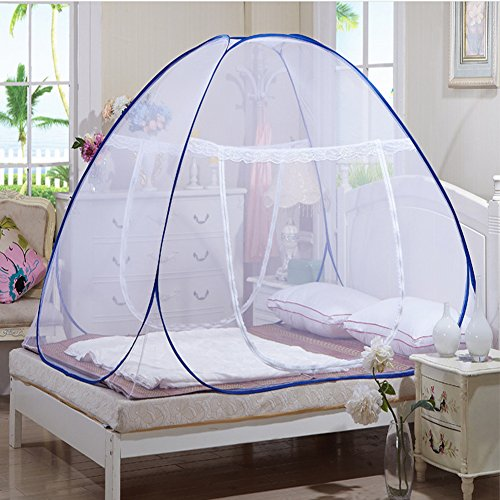 Yodosun Foldable Baby Adult Double Zipper Door Sleeping Travel Bed Tent Mosquito Net Bed Canopy Crib (120190140)