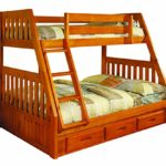 Discovery World Furniture Twin over Full Bunk Bed with 3 Drawer Storage, Honey